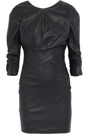 IRO Women Party Dresses - Woman Jordan Pleated Leather Mini Dress Size 38