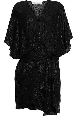 IRO Women Party Dresses - Woman Reynea Metallic Fil Coupé Silk-blend Chiffon Mini Wrap Dress Size 38