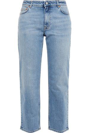 Acne Studios Women Straight - Woman Boy Cropped Mid-rise Straight-leg Jeans Mid Denim Size 30W-32L