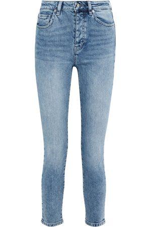 IRO Woman Galloway Faded High-rise Skinny Jeans Mid Denim Size 27