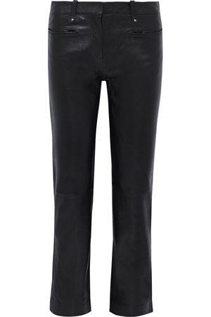 Muubaa Woman Brooklyn Leather Straight-leg Pants Size 10