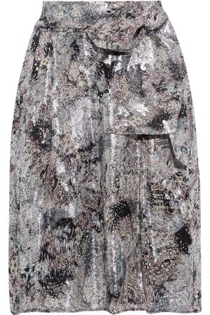 IRO Women Printed Skirts - Woman Jaunieaspe Belted Printed Fil Coupé Silk-blend Skirt Size 38