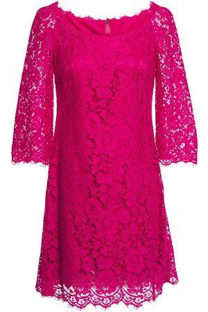 Dolce & Gabbana Woman Scalloped Corded Lace Mini Dress Fuchsia Size 36