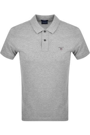 GANT Oxford Pique Rugger Polo T Shirt Grey