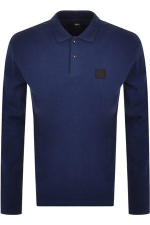 HUGO BOSS BOSS Long Sleeved Polo T Shirt Navy