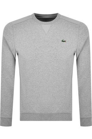 Lacoste Men Sports Hoodies - Sport Crew Neck Sweatshirt Grey
