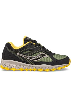 Saucony Kids Sneakers - Cohesion TR14 Lace Sneaker BlackOliveYellow