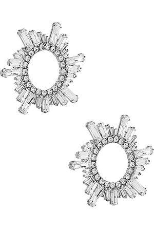 Amina Muaddi Begum Earrings in Metallic