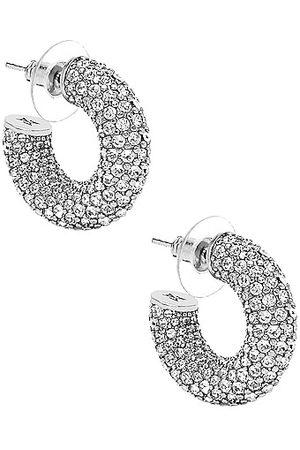 Amina Muaddi Women Earrings - Cameron Hoop Mini Earrings in Metallic