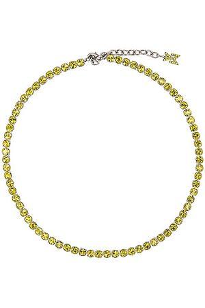 Amina Muaddi Tennis Necklace in Yellow