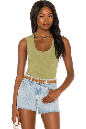House of Harlow X Sofia Richie Christy Bodysuit in Olive.