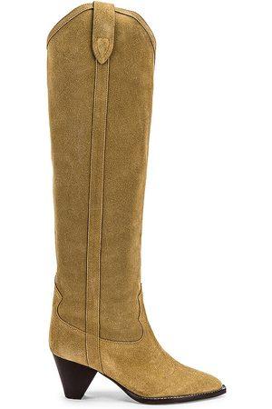Isabel Marant Lihana Boot in Brown.