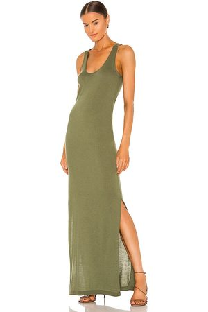 Weekend Stories Theodore Maxi Dress in Sage.