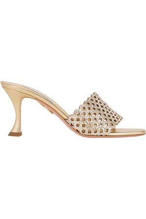 Aquazzura Women Heeled Sandals - Crystal Candy 75 mules