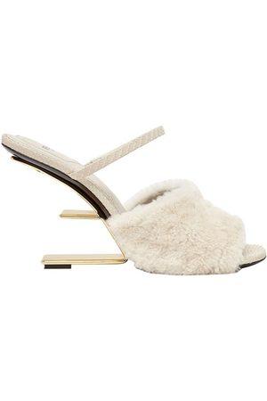 Fendi Sheepskin High-Heeled Sandals