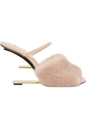 Fendi Women Heeled Sandals - Mink High-Heeled Sandals