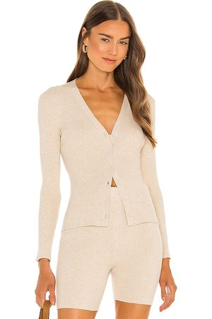 JoosTricot Ribbed Cardigan in Nude.