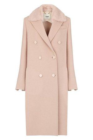 Fendi Women Coats - Camel Coat