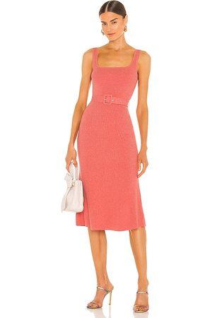 JoosTricot Tank Midi Dress in Pink.