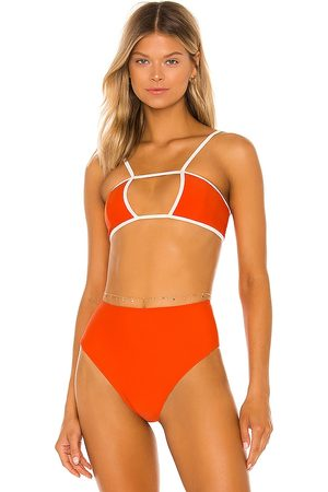 House of Harlow X Sofia Richie Jill Top in Tangerine.