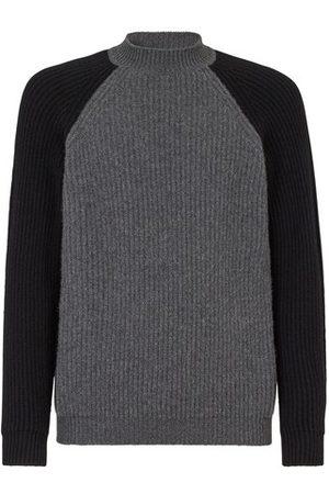 Fendi Men Turtlenecks - Multicolour Cashmere Pullover
