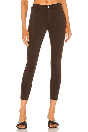 L'Agence Margot High Rise Skinny in Chocolate.