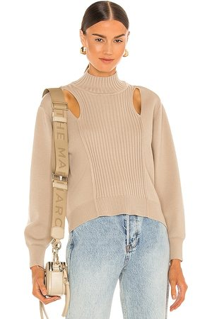 JONATHAN SIMKHAI Yvette Recycled Sweater in Taupe.