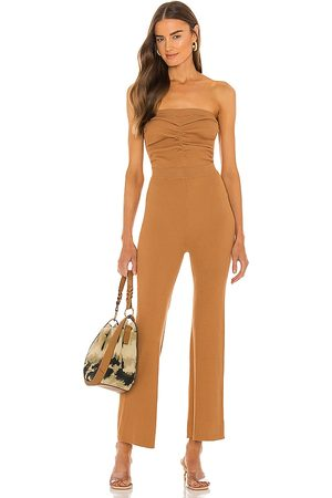 House of Harlow Women Jumpsuits - X Sofia Richie Efron Knit Jumpsuit in Tan.