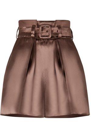 Fendi Mauve Satin Shorts