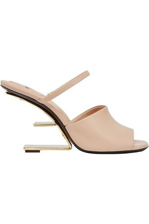 Fendi Women Heeled Sandals - Leather High-Heeled Sandals