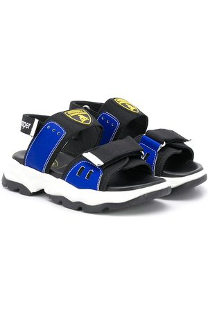 Bumper Boys Sandals - X Lamborghini logo patch chunky sandals