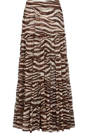 MISA Women Printed Skirts - Ananda zebra-print chiffon maxi skirt
