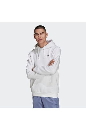 adidas Men's Essentials Trefoil Pullover Hoodie in / Size X-Small Cotton/Polyester/Fleece