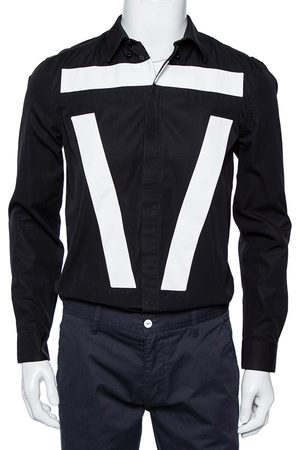 Givenchy Cotton Contrast Detail Button Front Shirt M