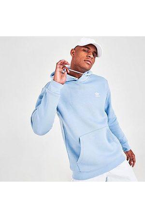 Adidas Men Hoodies - Men's Originals Essentials Trefoil Hoodie in /Ambient Sky Size Small Cotton/Polyester/Fleece