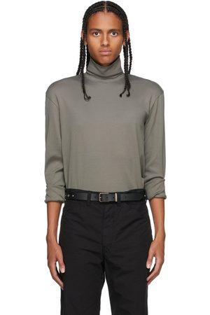 LEMAIRE Men Turtlenecks - Khaki High Collar Turtleneck