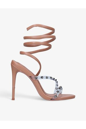 Carvela Women Heeled Sandals - Kurly stud-detail ankle-strap heels