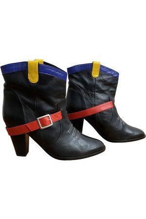 JC DE CASTELBAJAC Leather ankle boots