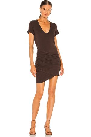 MONROW Supersoft Front Wrap Dress in .