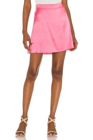 Silk Roads by Adriana Iglesias Iris Mini Skirt in Rose.