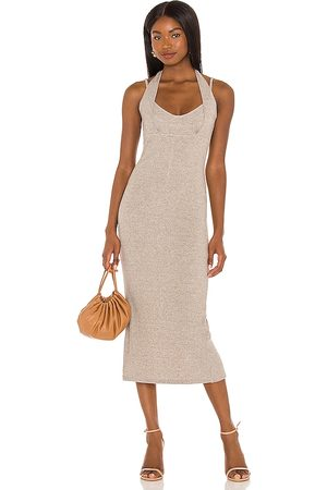 Lovers + Friends Hadlee Dress in Light Grey,Taupe.