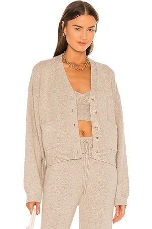 JoosTricot Speckled Cardigan in Beige.