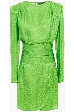 Dundas Women Party Dresses - Woman Draped Satin-jacquard Mini Dress Bright Size 36
