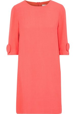 GOAT Women Party Dresses - Woman Frame Button-embellished Crepe Mini Dress Coral Size 8