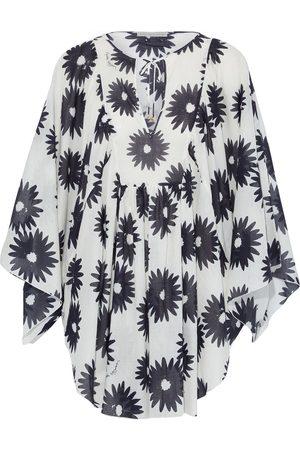 Stella McCartney Woman Linda Gathered Floral-print Cotton-gauze Coverup Size S