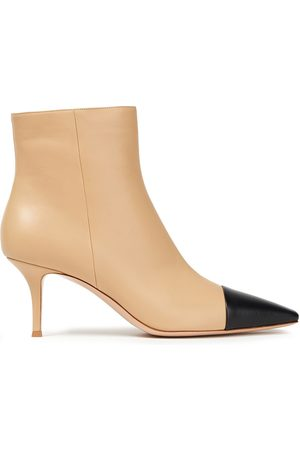 Gianvito Rossi Women Ankle Boots - Woman 70 Two-tone Leather Ankle Boots Size 36