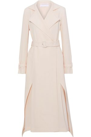Roland Mouret Women Coats - Woman Elbury Double-breasted Belted Wool-crepe Coat Pastel Size 8