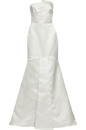 Roland Mouret Women Strapless Dresses - Woman Abella Strapless Fluted Duchesse-satin Bridal Gown Size 12