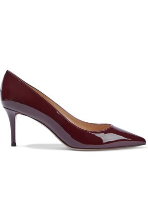 Gianvito Rossi Women Heeled Pumps - Woman 70 Patent-leather Pumps Burgundy Size 34.5