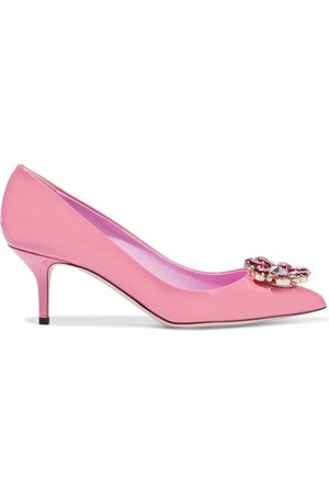 Dolce & Gabbana Women Heeled Pumps - Woman Bellucci Crystal-embellished Patent-leather Pumps Size 39
